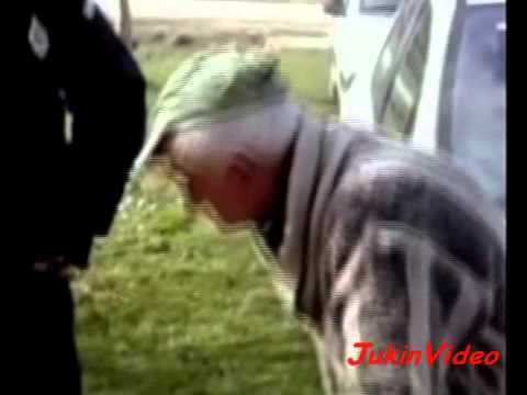 Old man tries to drink breathalyzer, Cop finds it hilarious.