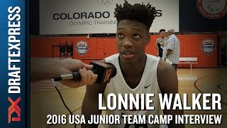 Lonnie Walker Interview at USA Basketball Junior National Team Camp