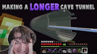 Making A LONGER Cave Tunnel, But In The End
