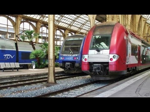 sncf - 60 trains at Nice railway stations (Nice-ville, Riquier & St Augustin)