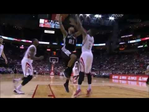 Terrence Jones stuffs Tim Duncan