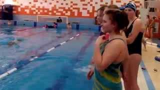 Соревнования по прикладному плаванию 2014 (видео №1)