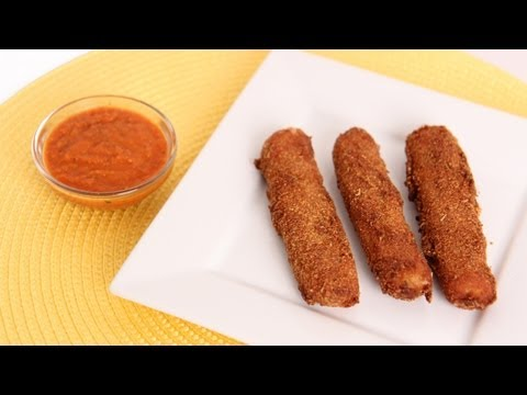 Homemade Mozzarella Sticks Recipe - Laura Vitale - Laura in the Kitchen Episode 597