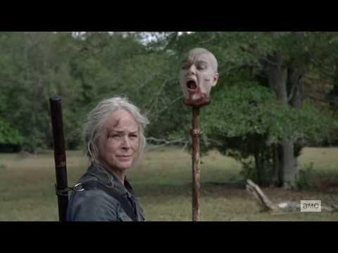 "The Walking Dead 10x14 ""Carol Puts Alpha's Head On Pike"" Season 10 Episode 14 HD ""Look at the"