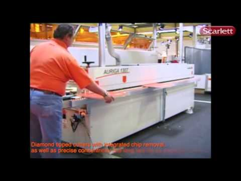 Holzher Auriga EdgeBander Production by Scarlett Inc