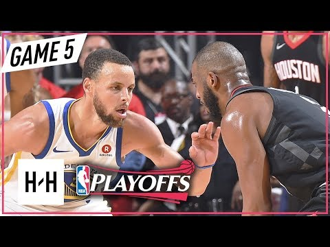 Stephen Curry vs Chris Paul DUEL Full Game 5 Highlights