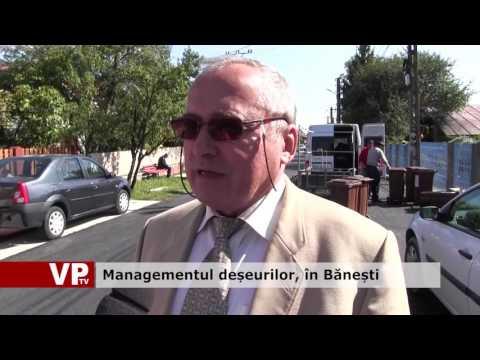 Managementul deșeurilor, în Bănești