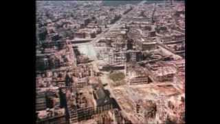 """No """"Holzauktion"""" today. Aerial view of the bombed-out Berlin. Soundtrack: Im Grunewald (ist Holzauktion) performed by Das große Berliner Ballhausorchester, written by Otto Teich in 1890."""