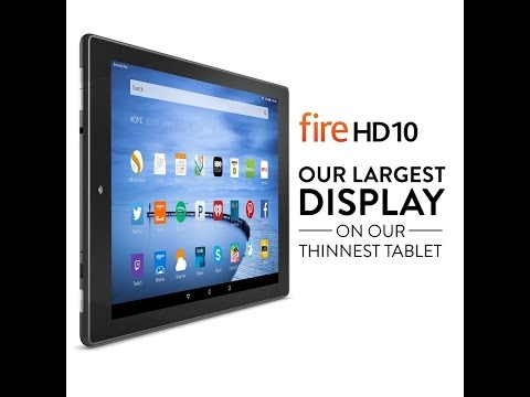 Amazon Kindle Fire HD 10 Unboxing and Review
