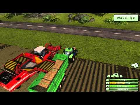 Farming Simulator 2013 Harvesting Potatoes and replanting