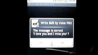Write SMS by Voice LITE YouTube video