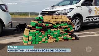 Dobra o número de apreensões de drogas nas rodovias da região de Bauru