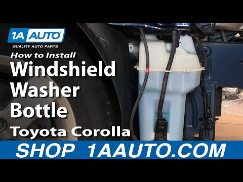 How To Install Replace Windshield Washer Bottle Toyota Corolla 03-08 – 1AAuto.com