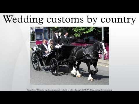 Wedding customs by country