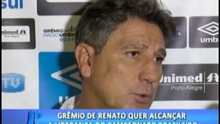 Grêmio de Renato quer alcançar a liderança do campeonato brasileiro . #JornaldaPampa