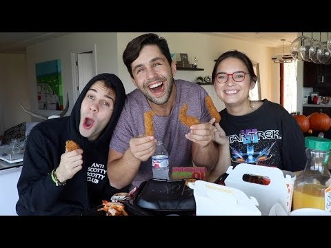 CHICKEN TENDER MUKBANG FT DAVID DOBRIK & ASSISTANT NATALIE