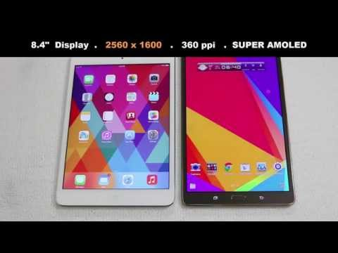 tab - In this video, we will do a full comparison between the iPad Mini 2 with Retina Display vs the Samsung Galaxy Tab S 8.4