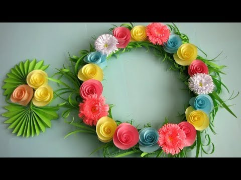 Paper Craft Flowers Wall Hanging Flowers Healthy