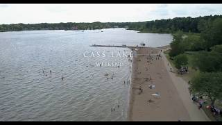 """Weekend Fun with family and friends at Cass Lake.Video taken with phantom 4 pro:  http://amzn.to/2tqcfssCheaper while still great 4k Drone, """"Phantom 3 professional"""": http://amzn.to/2t12YaJ"""