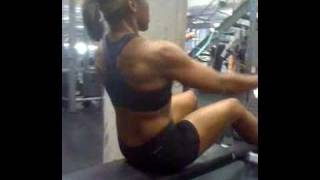 Personal Trainer Cynthia Pressley back exercise