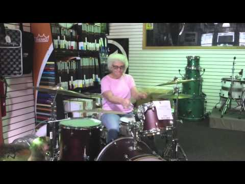 Grandma Drummer Rocks Out