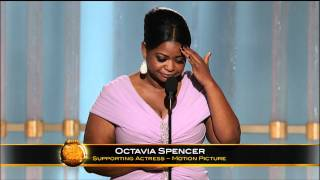 Octavia Spencer Wins Best Supporting Actress Motion Picture - Golden Globes 2012