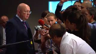 Informal comments to the media by H.E. Vassily Nebenzia, Permanent Representative of the Russian Federation to the United Nations, on Syria and other matters.