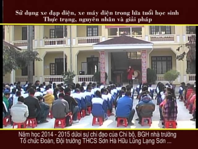 Dự thi tập thể ATGT-THCS Sơn Hà Lạng Sơn