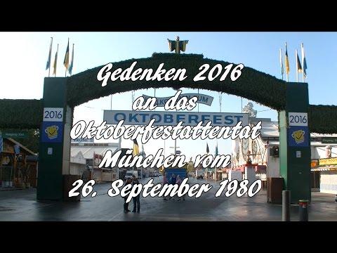 Gedenken 2016 an das Oktoberfestattentat vom 26.9.1980
