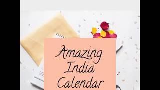 Gulmeher's Amazing India Calendar 2018