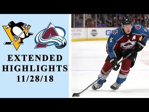 Video: Pittsburgh Penguins vs. Colorado Avalanche | EXTENDED HIGHLIGHTS | 11/28/18 | NHL | NBC Sports