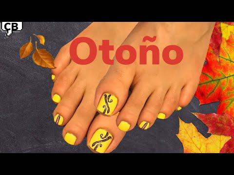 Uñas decoradas - Uñas Otoño  decoración de uñas de los pies