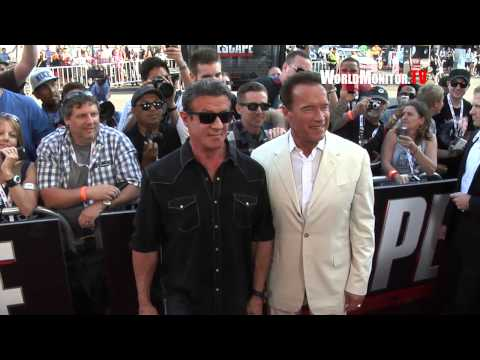Arnold Schwarzenegger, Sylvester Stallone ' Escape Plan' Fan Screening Comic Con 2013
