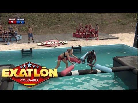 Emerson y Daniela logran los dos primeros puntos para su equipo   Exatlón Colombia