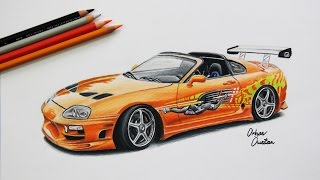 Nonton Toyota SUPRA   The Fast and The Furious   Car Drawing Film Subtitle Indonesia Streaming Movie Download