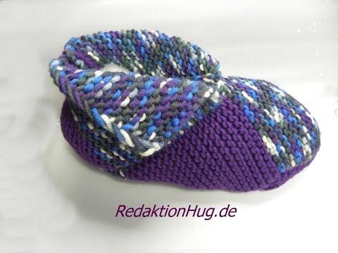 Stricken – Puschen – Patchwork-Schuhe –  hatnut XL 55 und fresh