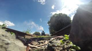 Sheffield Australia  City new picture : 1906 KRAUSS LOCO DRIVES OVER GOPRO IN SHEFFIELD TASMANIA AUSTRALIA