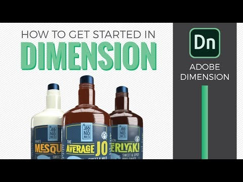 How to Get Started in Adobe Dimension CC 2018