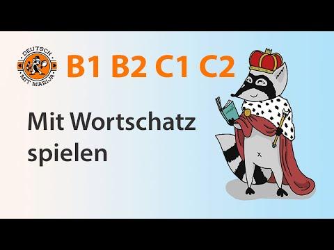 Kreatives Wortschatz-Spiel von Marija | Deutsch B1 B2 C1 C2