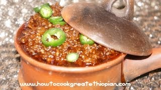 How To Cook Great Ethiopian Minced Doro Wot (wat Or Wet) Chicken Recipe