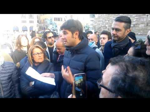 Firenze, Di Battista in piazza Signoria
