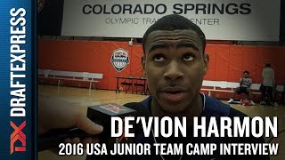 De'Vion Harmon Interview at USA Basketball Junior National Team Camp