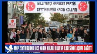 MHP Zeytinburnuİlçe Kadın Koları Bulvar Cadesinde Aşure Dağıttı