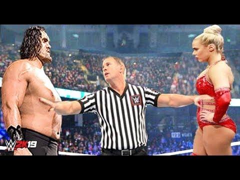 The Great Khali vs Lana