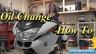 7. BMW R1200RT Police Motorcycle Oil Change