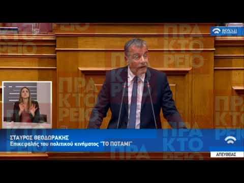 Ομιλία Στ. Θεοδωράκη στη συζήτηση για διενέργεια προκαταρκτικής εξέτασης 08/03/2018