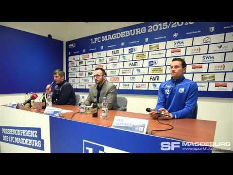 Video: Pressekonferenz vor dem Spiel - 1. FC Magdeburg gegen Stuttgarter Kickers