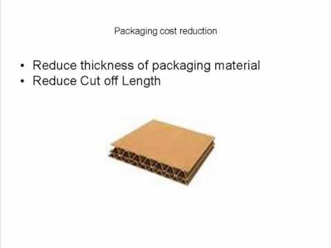 reduce packaging - Packaging cost are significant for any manufacturers there are several ways to reduce packaging cost log on to http://shumaonline.com/costreduction_packaging...