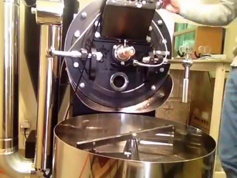 コロンビアのコーヒー豆の焙煎