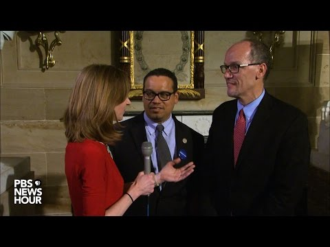 DNC chair Perez and vice chair Ellison comment on President Trump's speech